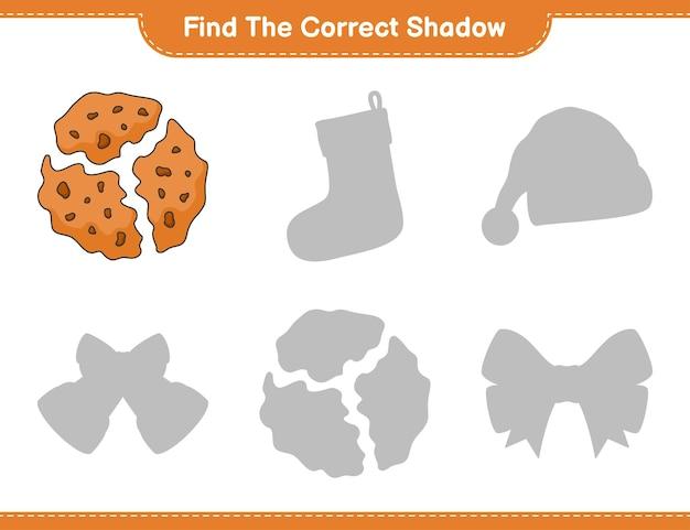Найдите правильную тень найдите и сопоставьте правильную тень в игре cookie education для детей