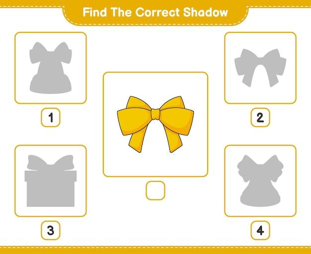 올바른 그림자 찾기 리본 교육 어린이 게임의 올바른 그림자를 찾아 일치시킵니다.