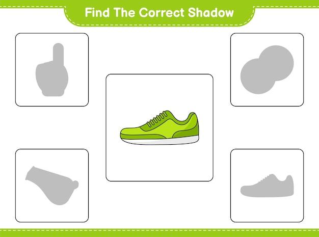 Найти правильную тень. найти и сопоставить правильную тень кроссовки