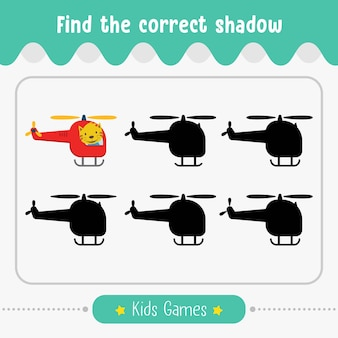 就学前の子供のための正しい影、キッズゲームを見つける