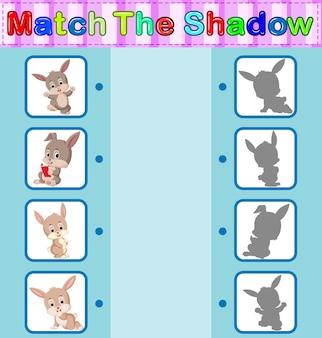 Найти правильную тень кролика