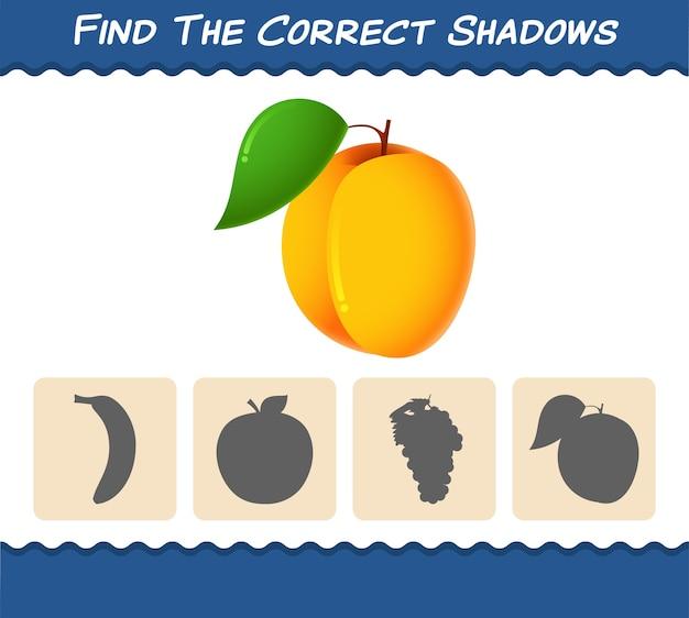 Найдите правильные тени мультяшного абрикоса