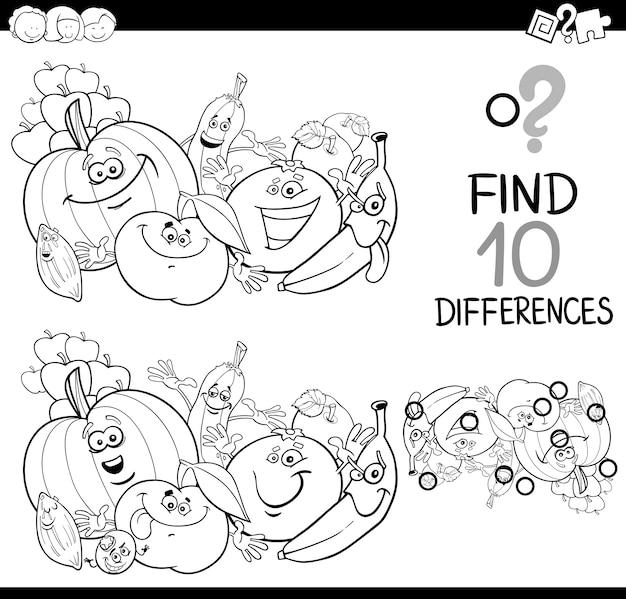 Найдите страницу раскраски разницы