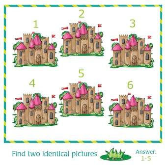 Find two identical pictures of vector castle
