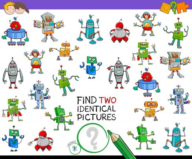 두 개의 동일한 로봇 교육 활동 찾기