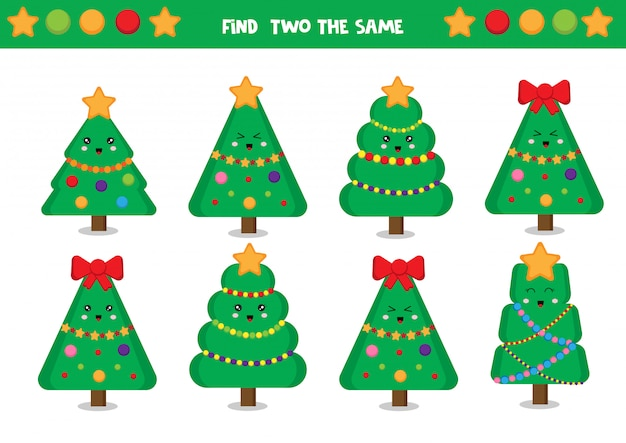 Find two the same christmas trees.