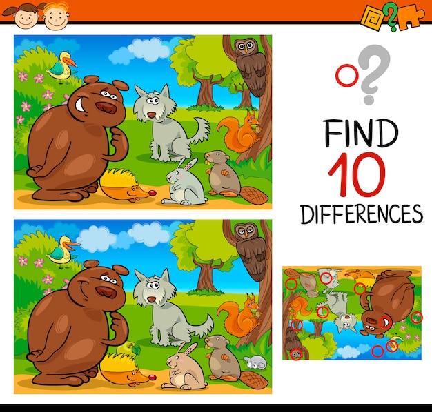 Поиск отличия игра мультфильм