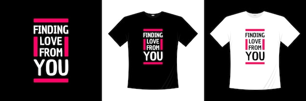Finding love from you typography