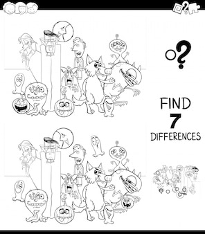 Finding seven differences between pictures educational game for children