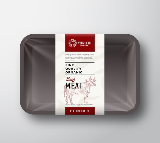 Fine quality beef meat container
