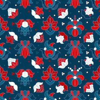 좋은 빈티지 꽃 원활한 패턴