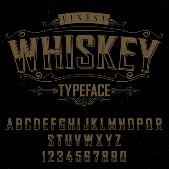 Плакат с шрифтом finest whisky