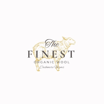 The finest wool. abstract  sign, symbol or logo template.