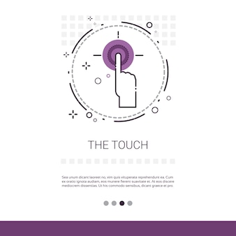 Finger gesture touch screen sign web banner