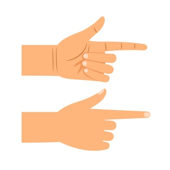 Finger pointing gesture