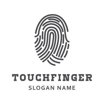 Finger print design illustration scan work