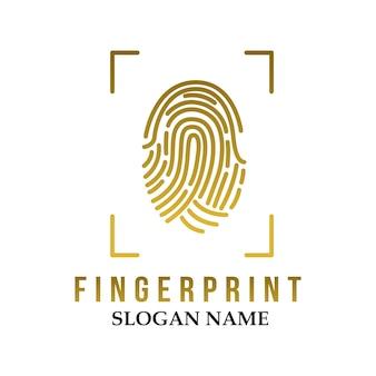 Finger print logo illustration design icon logo