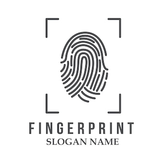 Finger print logo illustration design icon logo