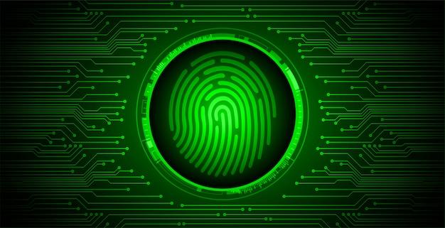 Отпечаток пальца сети кибербезопасности фон, закрытый замок