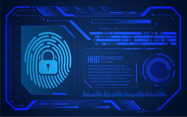 指紋ネットワークサイバーセキュリティの背景、デジタルのhud閉じた南京錠