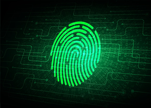 Finger print network cyber security background