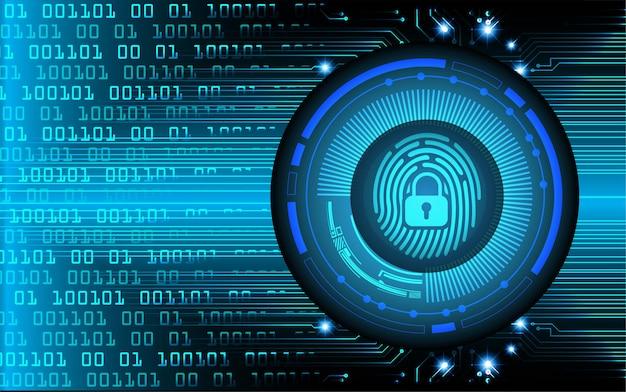 Фон кибербезопасности сети отпечатков пальцев.