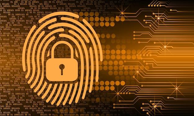 指紋ネットワークサイバーセキュリティの背景