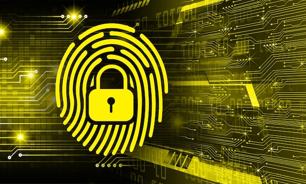 Отпечаток пальца сети кибербезопасности фон