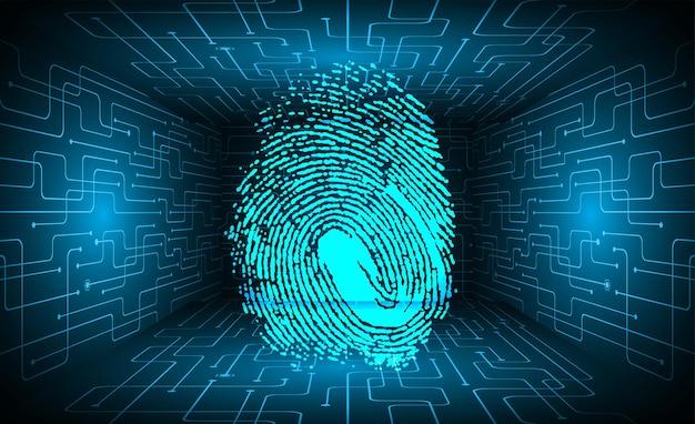 지문 네트워크 사이버 보안 배경