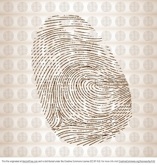 Finger print vector graphic