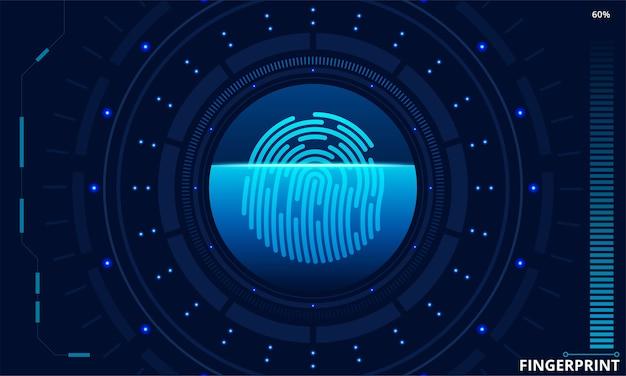 Finger scan in futuristic style