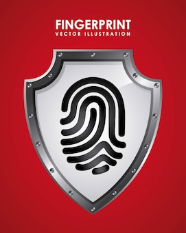 Fingerprint graphic design  vector illustration