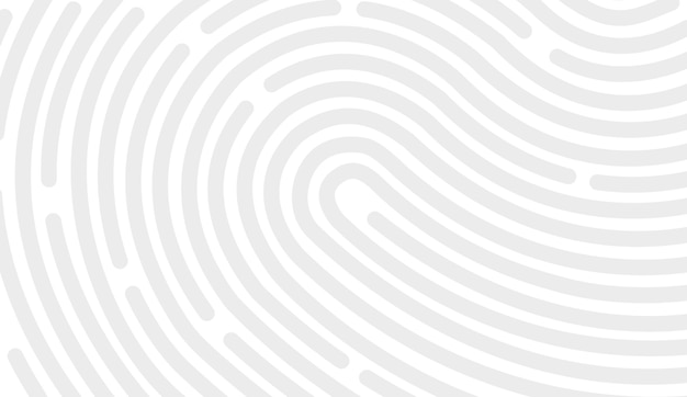 Дизайн значка отпечатка пальца для приложения и плоского сканирования отпечатка пальца. векторный дизайн на белом фоне.