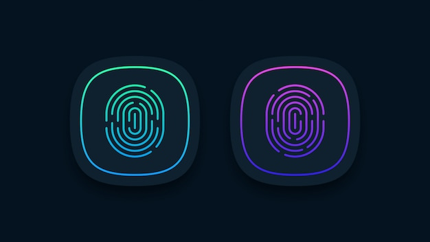 Fingerprint  icons illustration