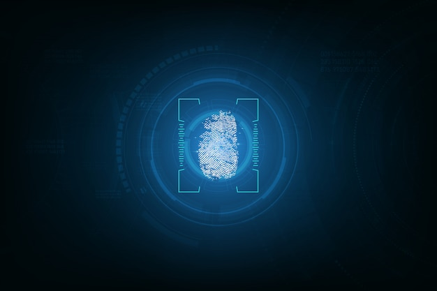 Fingerprint integrated in a printed circuit background