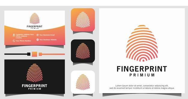 指紋ロック安全なセキュリティロゴテンプレート