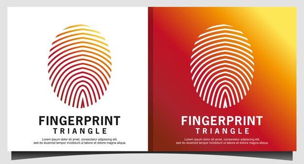 Блокировка отпечатков пальцев безопасный логотип безопасности