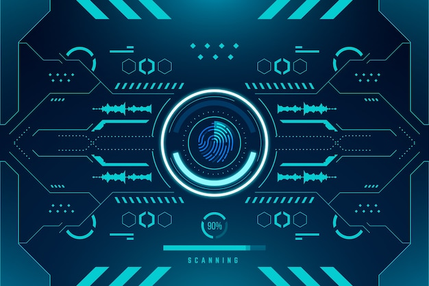Fingerprint neon background
