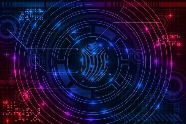 Fingerprint neon background