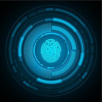 指紋ネットワークサイバーセキュリティの背景。