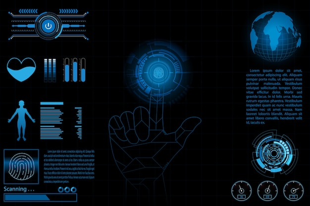 Fingerprint scan information personal concept