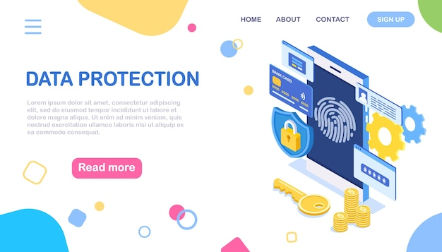 Сканирование отпечатков пальцев на мобильный телефон. защита данных
