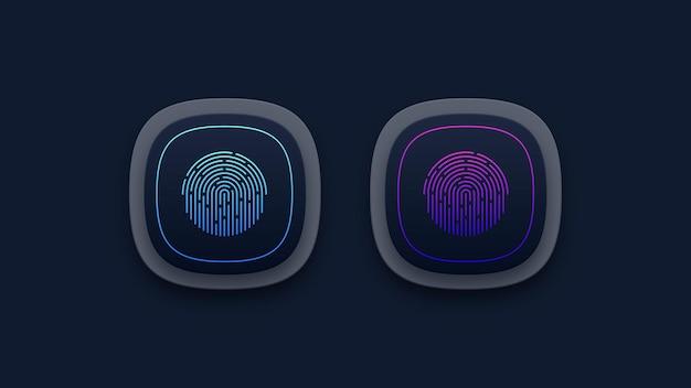 Fingerprint scanning buttons