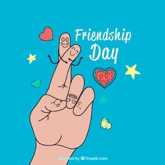 Пальцы, дружба день