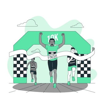Finish line concept illustration