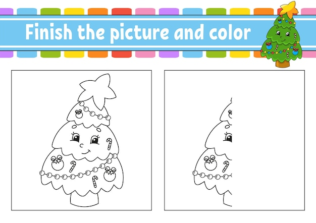 Finish the picture and color illustration