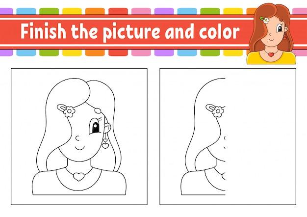 Закончите картину и цвет.