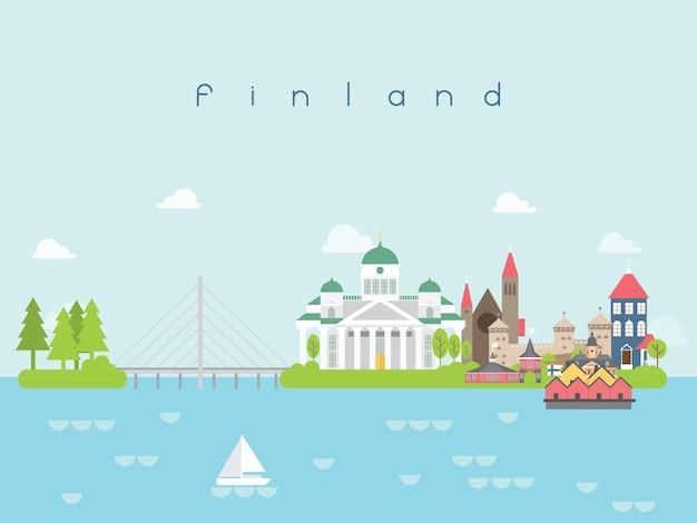 Finland famous landmarks infographic