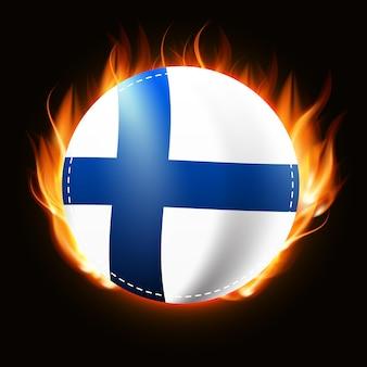 フィンランドの国旗に火が付いている 国の紋章