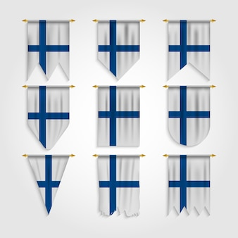 Finland flag in various shapes